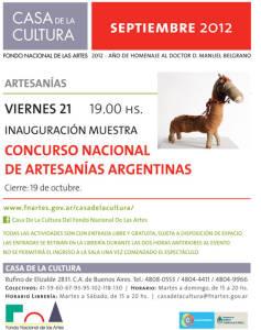 Invitación Concurso Nacional de Artesanías 2012 FNA